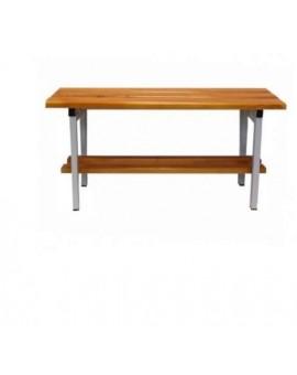 Panca da 1 metro in legno di faggio e metallo per Palestra