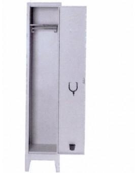 Armadio spogliatoio 1/posto in metallo misura 36x33x178h completo di serratura