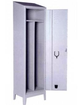 Armadio Palestra sporco pulito 1 posto tetto spiovente 50x40x192 serratura