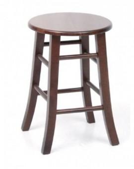 Sgabello Basso in legno massello colore noce h50 cm per pub locale bar casa