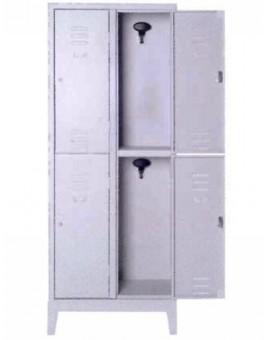 Armadio Palestra multiplo in metallo a 4 posti con serratura misura 69x33x180