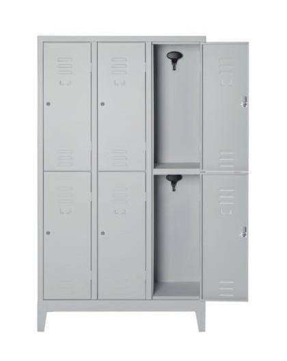 Armadio spogliatoio multiplo in metallo a 6 posti con serratura misura101x33x180