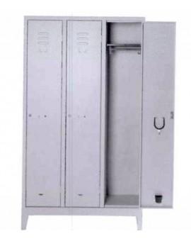 Aramdio Palestra 3 posti misura 101x33x178h completo di serratura tetto piano