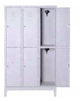 Mobile Spogliatoio A 6 Posti Multiplo In Metallo 101x33x180 Con Piedi Metallo
