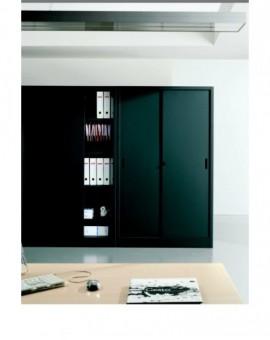 Armadio archivio da ufficio ante battenti colore antracite misura 100x45x200