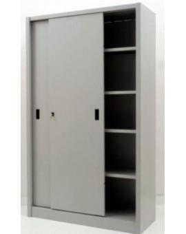 Armadio per archivio ufficio in metallo da 180x45x200 con ante scorrevoli grigio