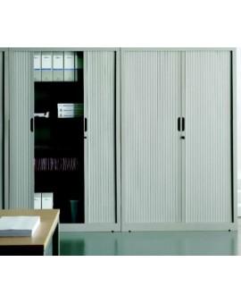 Armadio per archivio ufficio ante a serrandina mis.120x45x198h grigio