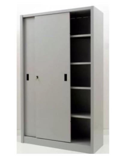 Armadietto Metallico Per Ufficio.Armadio Mobile Da Archivio Per Ufficio In Metallo Ante Scorrevoli Mis 150x60x200 Nonsolopoltrone