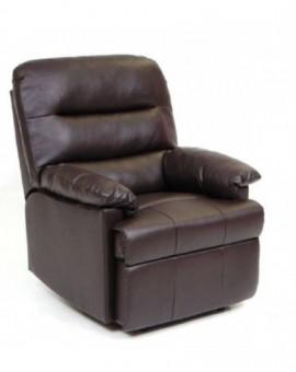 Poltrona reclinabilemod.relax mar di colore marrone sist.manuale finta pelle