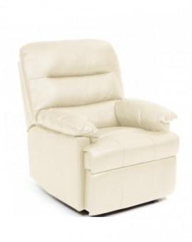 Poltrona reclinabilemod.relax mar di colore crema sist. manuale finta pelle