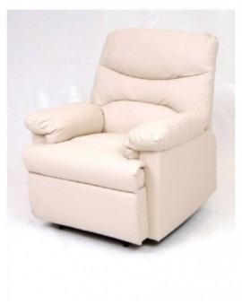 Poltrona reclinabilemod.relax diana crema,nera,marrone sist. manuale ufficio