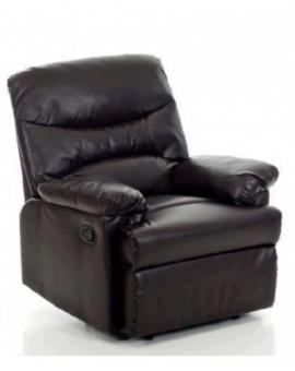 Poltrona reclinabilemod.relax diana dicolore marrone sist. manuale ufficio