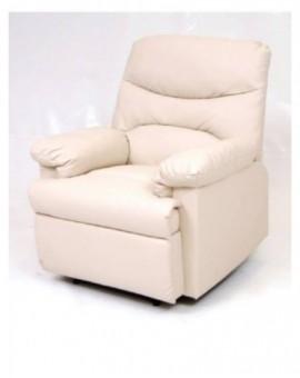 Poltrona reclinabilemod.relax diana dicolore crema,nera,marrone sist. manuale