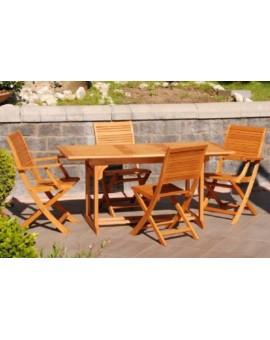 Tavolo da esterno in legno di eucalipto