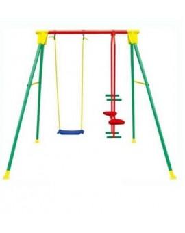 Altalena kiko 3 in metallo gioco per bambini da 3 a10 anni