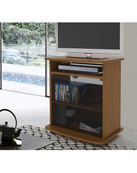 Mobile carrello porta tv crescendo 60 in legno colore bianco,noce antico,olmo