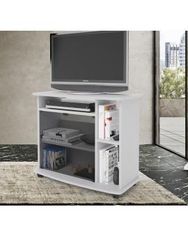 Mobile carrello porta tv in legno crescendo 80 vari colori olmo bianco noce antico