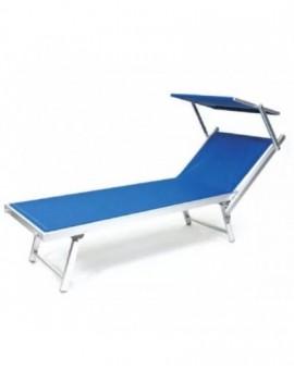 Offerta 4 Lettini Da Mare Colore Blu In Alluminio per lidi piscina prestagionale