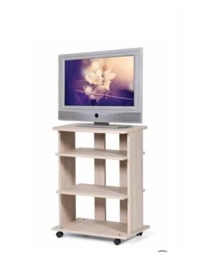 Mobile carrello porta tv new olmo in legno con ruote a vari ...
