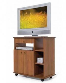 Porta tv arte povera colore noce antico con antine,cassetto e vano laterale