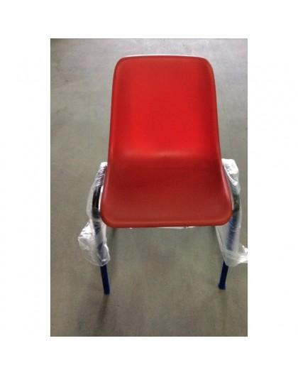 Sedie Da Ufficio Plastica.Sedia Fissa In Plastica Mono Scocca Per Ufficio Colore Rosso