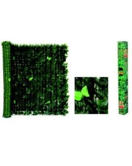 Recinzione artificiale in foglie misura 1x3mt con rete di sostegno Verde