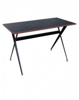 Scrivania porta pc colore nero con struttura in metallo mod.formy