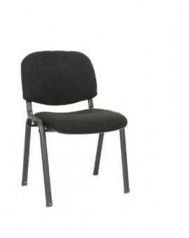 Sedia fissa da ufficio in colore tessuto nero