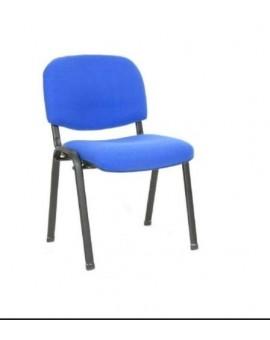 Sedia fissa da ufficio in colore tessuto blu