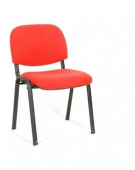 Sedia fissa da ufficio in colore tessuto rosso