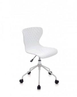 Sedia girevole sediolina per cameretta colore bianca mod.comics seduta in nylon