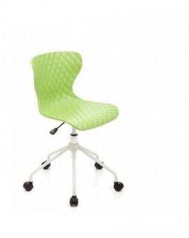 Sedia girevole sediolina per cameretta colore verde mod.comics seduta in nylon