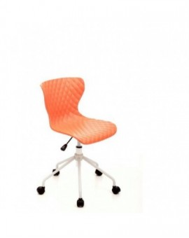Sedia girevole sediolina per cameretta colore arancio mod.comics seduta in nylon