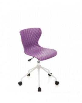 Sedia girevole sediolina per cameretta colore viola mod.comics seduta in nylon