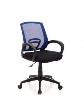 Poltroncina per ufficio,cameretta schienale blu in rete in tessuto operativo