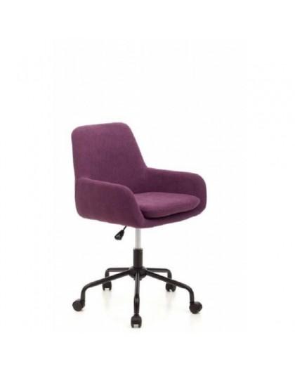 Sedia girevole sediolina per cameretta color viola tessuto con seduta  imbottita - Nonsolopoltrone