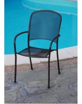 Sedia in metallo per esterno arredo giardino con braccioli