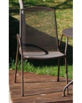 Sedia in metallo per esterno con braccioli arredo giardino esterno