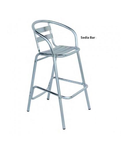 Sgabelli Alluminio Bar.Sgabello Sedia Alta Da Bar In Alluminio Per Tavolo Snack No Braccioli Mod Min Nonsolopoltrone