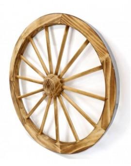 Decorazione ruota legno rustica legno naturale misura cm48x8arredo casa, pub