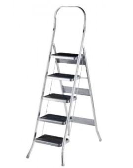 Scala balzo in alluminio gradino largo della scab a 5 gradini uso domestico