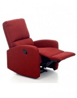 Poltrona reclinabilefiorella relax rosso in tessuto sist. manuale arredo casa