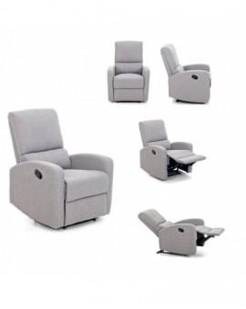 Poltrona Relax reclinabile in 3 Posizioni Grigio