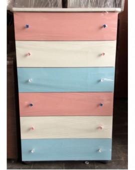 Settimino bianco azzurro rosa camerettaarredo bimbi melaminico montato cm75