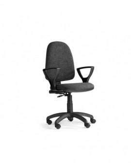 Poltroncina girevole per ufficio seduta interna faggio imbottita tessuto grigio