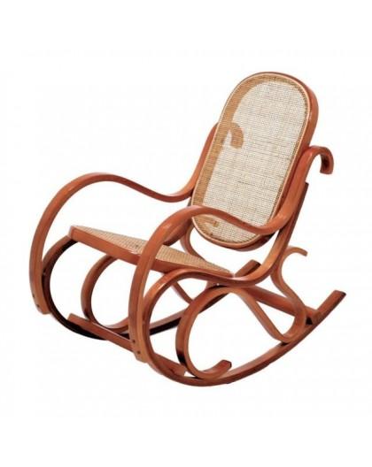 Sedia A Dondolo Classica Legno.Sedia A Dondolo Per Bimbi In Legno Di Faggio Di Col Miele Seduta Paglia Nonsolopoltrone