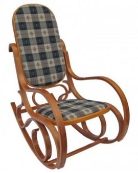 Sedia a dondolo in legno naturale per arredo casa design lusso seduta imbottita