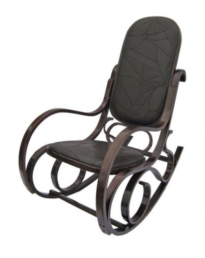 Sedie A Dondolo Design.Sedia A Dondolo In Legno Naturale Per Arredo Casa Design Lusso Seduta Imbottita Nonsolopoltrone