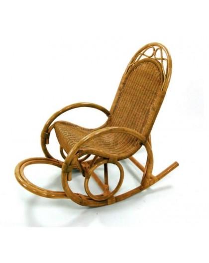 Sedia Dondolo Vimini.Sedia A Dondolo In Midollo Miele Naturale Arredo Casa Design Lusso Vimini Nonsolopoltrone