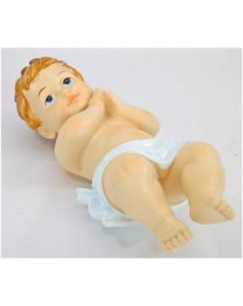 Statua bambin gesu cm28 per presepe capanna natale arredo nativita' addobbo